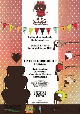 FESTA DEL CIOCCOLATO A TORRE DEL GRECO NA,DAL 11 AL 14 FEBBRAIO 2016