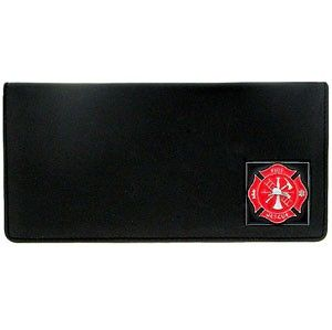 """Checkout our #LicensedGear products FREE SHIPPING + 10% OFF Coupon Code """"Official"""" Checkbook Cover - Fire Fighter - Officially licensed Military, Patriotic & Firefighter product Genuine fine grain leather Fits top and side loaded checkbooks Plastic sleeve for duplicate check writing Metal Firefighter emblem with enameled team colors - Price: $22.00. Buy now at https://officiallylicensedgear.com/checkbook-cover-fire-fighter-snc20"""