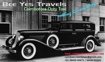 Bee Yes Travels Coimbatore Ooty Taxi We aim at promoting tourism in India by providing a variety of tour packages to all parts of India with all kinds of travel related services to make your tours memorable and enjoyable. As one of India's biggest travel agency, we provide economical group travel packages, luxury private travel packages as well as hotel reservation in India with 24/7 manned online and hotline services. With long experience, our company is successful in offering the best…