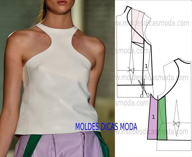 BLUSA DE CAMURÇA -59 | Moldes Moda por Medida | Bloglovin'