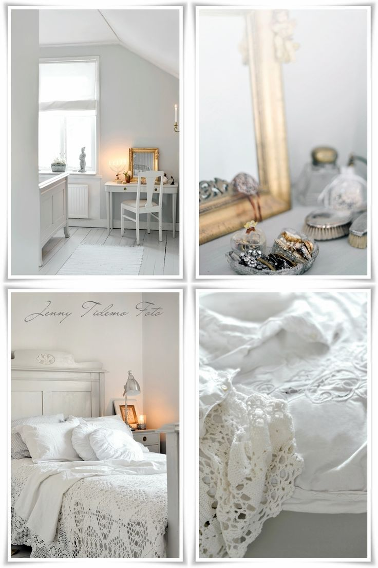 Guest Bedroom Whitewashed Cottage chippy shabby chic French country rustic swedish decor idea. ***Pinned by oldattic ***.