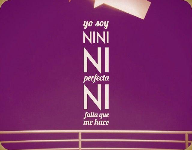 Ebre Vinil Vinilo Decorativo Frases divertidas yo soy NINI NI perfecta NINI ni falta que me hace 03058