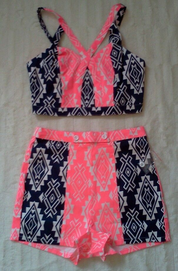 Short set, High waisted shorts and Crop tops on Pinterest