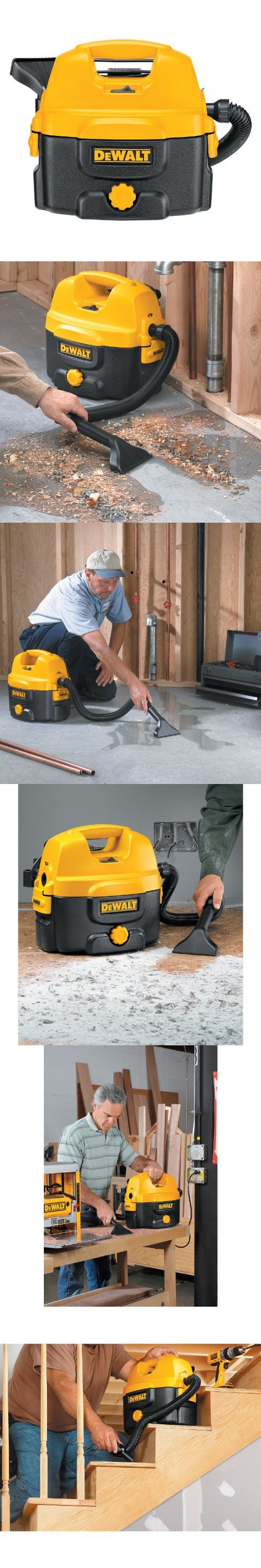 DEWALT DC500 2-Gallon 12-to-18-Volt Cordless/Corded Wet/Dry Vacuum -  Offering convenient corded and cordless cleanup, the two-gallon DEWALT DC500 wet/dry vacuum sucks up big work shop messes and job site debris quickly and efficiently. A high-efficiency wet/dry filter... - Power Tools - Tools & Hardware - $99.00