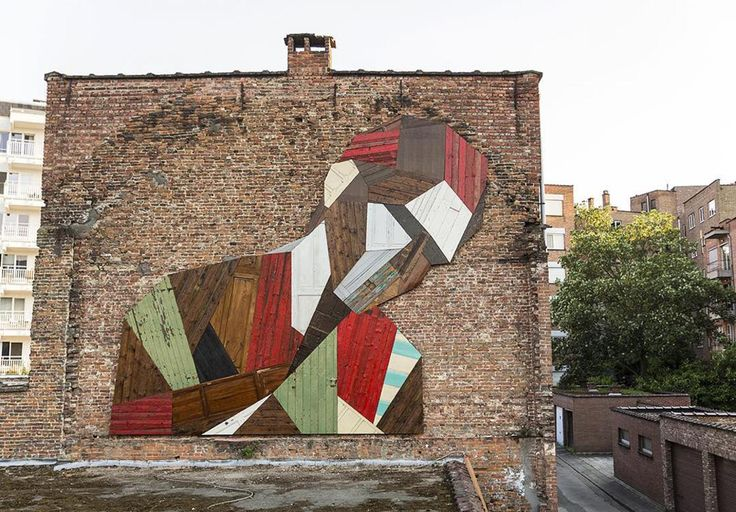 Strook – Ce street artist recycle le bois en portraits géométriques | Ufunk.net