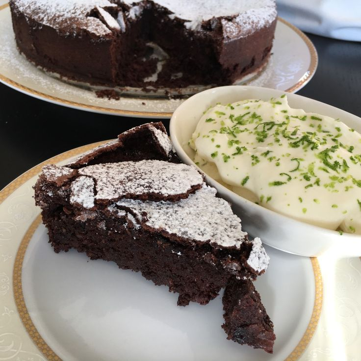 There is something about a flourless chocolate cake that makes it so damn easy to eat.