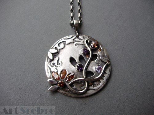 Silver pendant -,, the wind''