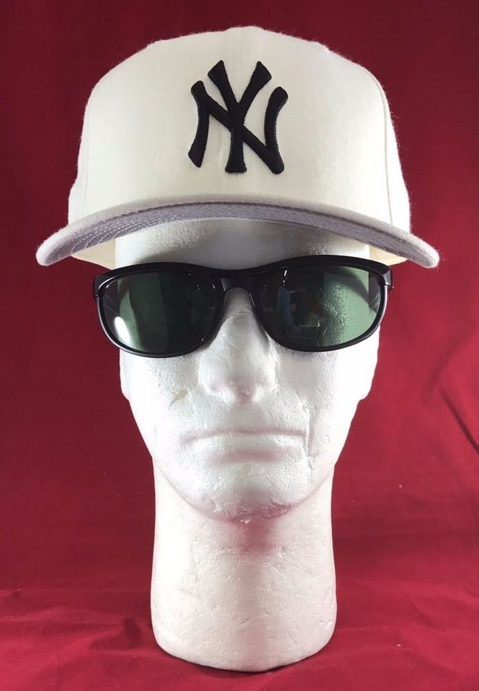 New Era 59Fifty New York Yankees White With Black NY LOGO Flat Bill Hat #NewEra #NewYorkYankees