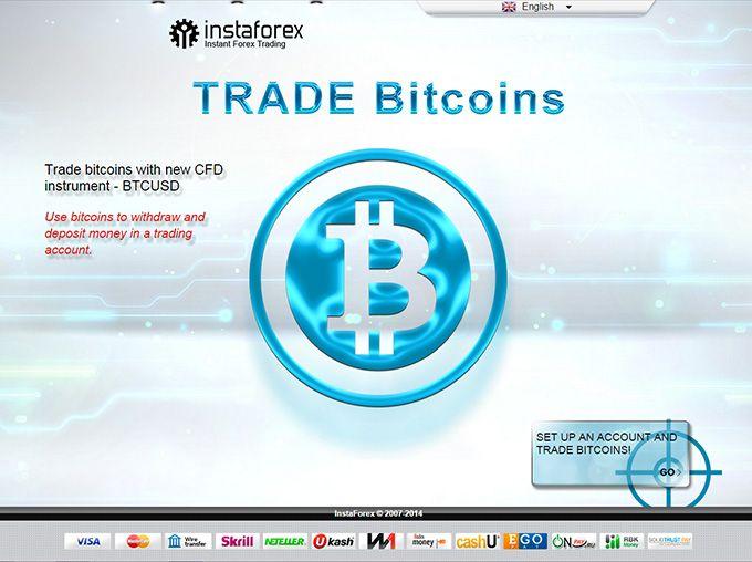 Trade Bitcoin InstaForex Bitcoin – peluang terobosan untuk trading dengan InstaForex Semua klien dapat membuat baik penggunaan mata uang digital populer bitcoin sebagai instrumen perdagangan ekstra. Dengan demikian, perdagangan telah ditambahkan dengan kondisi menguntungkan baru memperluas kesempatan Anda untuk mendapatkan keuntungan.  Klik Banner Untuk Register Trade Bitcoin..!!!