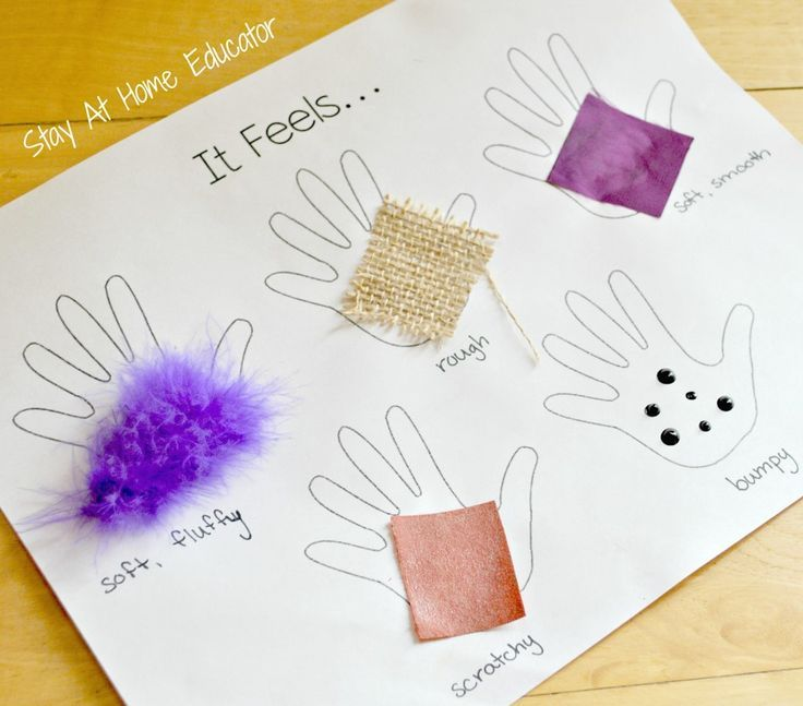 It feels like, exploring the sense of touch activity for preschoolers - Stay At Home Educator