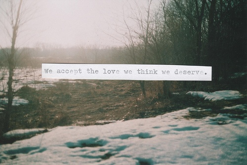 """Perks of Being a Wallflower"" quote"