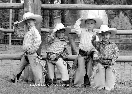 Such cute little cowboys!