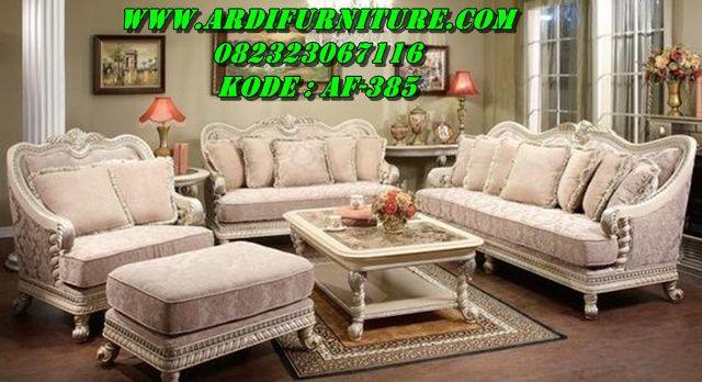 Jual Set Kursi Tamu Sofa Silver Luxury Classic Desain Set Kursi Tamu Sofa Silver Luxury Classic White Sofa Table Unique Living Room Furniture Living Room Sets