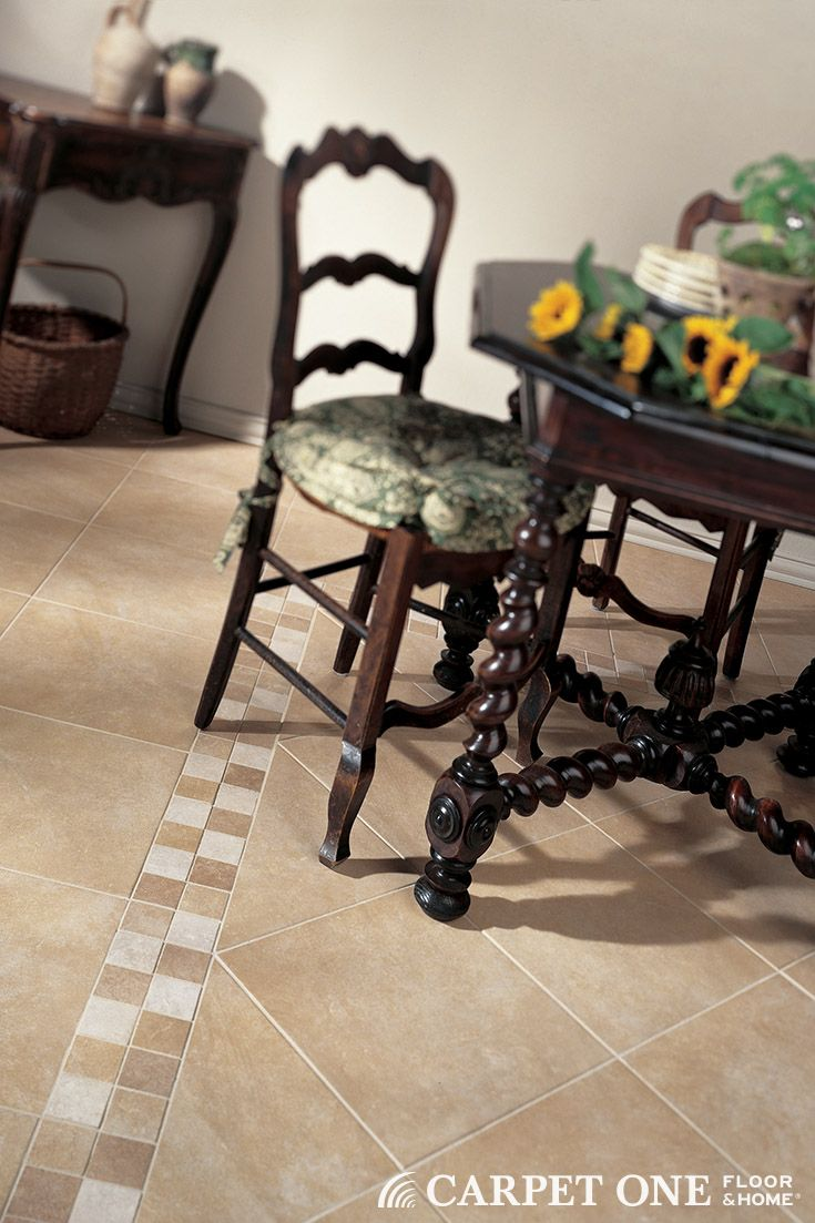 58 best floor tile images on pinterest tile floor tile flooring adding accent tiles and changing the direction of the tile offers more options for customization dailygadgetfo Image collections