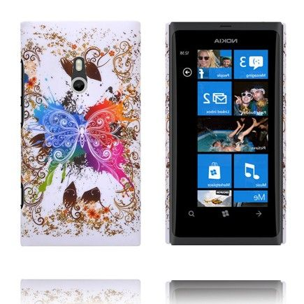 Valentine (Centered Rainbow Butterfly) Nokia Lumia 800 Cover