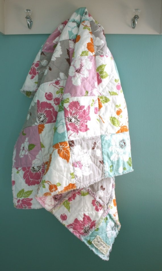 LOVING the idea of keeping one side of the quilt raw, and other normal... these fabrics are beautiful