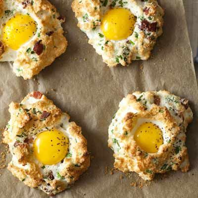 Eggs in Clouds - Rachael Ray  http://www.rachaelraymag.com/Recipes/rachael-ray-magazine-recipe-search/fast-recipes/eggs-in-clouds