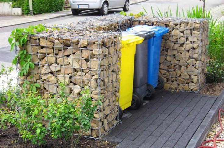 Sichtschutz für Mülltonnen Gartengestaltung