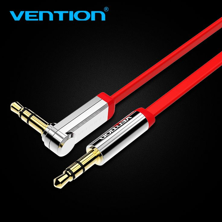 Vention 3.5mm audio cable 90 degree right angle flat jack 3.5 mm aux cable for iPhone car headphone beats speaker aux cord MP3/4 #Affiliate