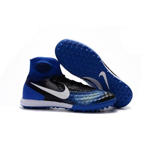 Nike Magista Obra II TF Schwarz Blau Weiß Fußballschuhe