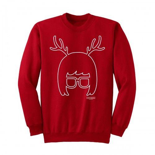Bob's Burgers Tina Reindeer Silhouette Sweatshirt
