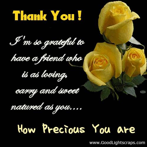 thank you for being a friend quotes | Thank You Scraps, Thank You Glitter Graphics, Thank u Comments for ...