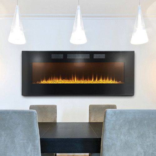 Napoleon Azure 50 EFL50FH Wall Hanging or Recessed Electric Fireplace - Napoleon Azure 50 EFL50FH Wall Hanging Or Recessed Electric