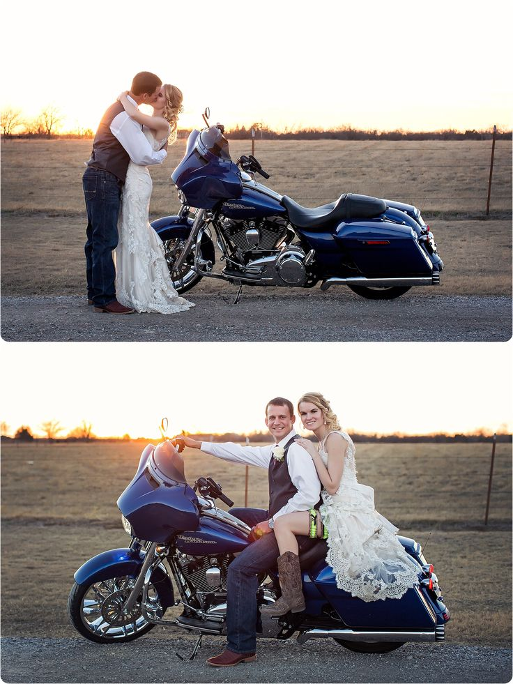 Harley Davidson Wedding   Piedmont Wedding Photographer – Jeter Wedding – Photos by Keshia