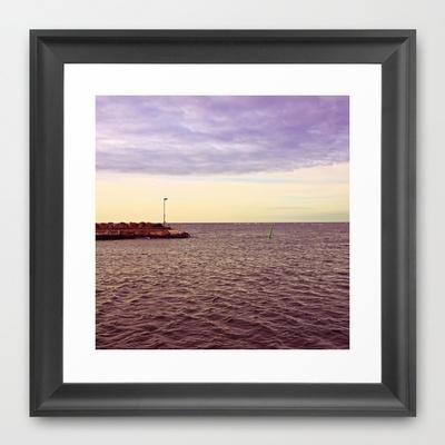 HARBOUR Framed Art Print by lilla värsting - $32.00