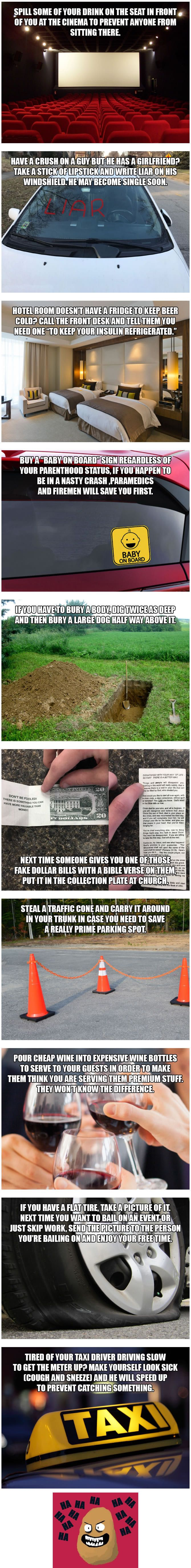 10 Wicked Life Hacks That Only A Dishonest Genius Would Use - 9GAG
