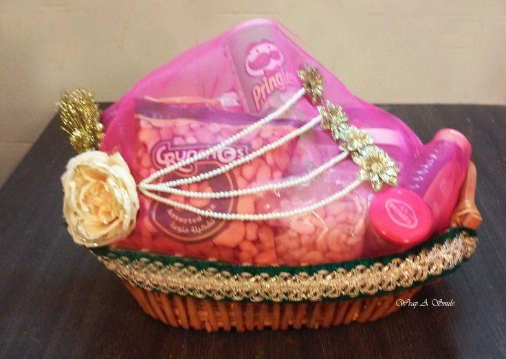 Shagun Wedding Hamper Baskets designed At Wrap A Smile - By Shreya Ahuja heart…