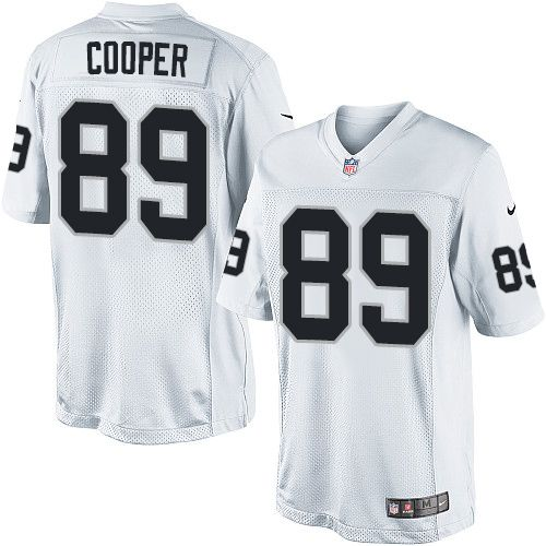 ... Amari Cooper Mens Limited White Jersey Nike NFL Oakland Raiders Road 89  ... c1739cf62