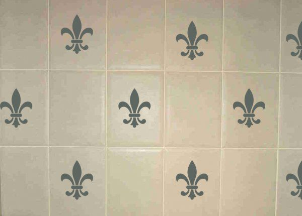 Fleur de Lys Wall Tile Stickers.Great for giving tired tiles a new look