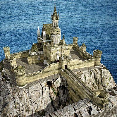 3D model of a Gothic castle