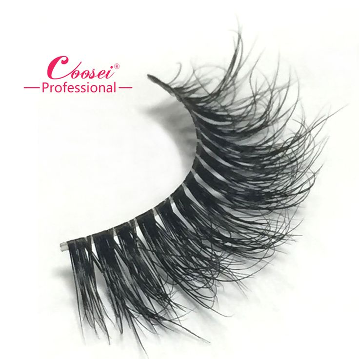 New design invisible thread/invisible band mink lashes extension strip with custom made lashes box Customized invisible elastic thread mink lashes strip