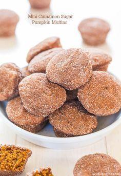 Mini Cinnamon Sugar Pumpkin Muffins