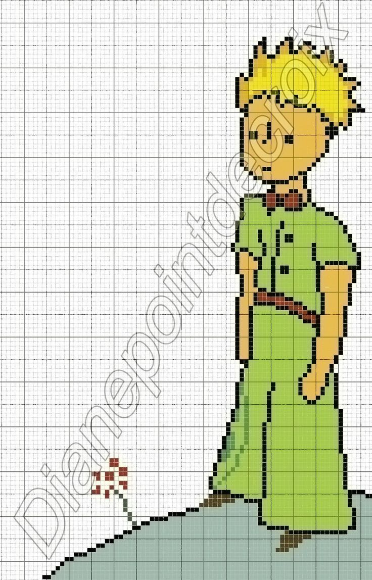 Cross Stitch *♥* Point de croix The Little Prince perler bead pattern
