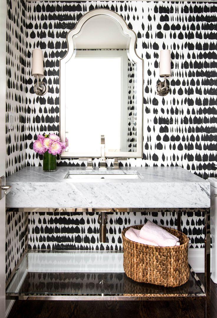 Bathroom decor, bathroom wallpaper