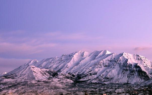 Обои картинки фото пейзаж, горы, снег, природа