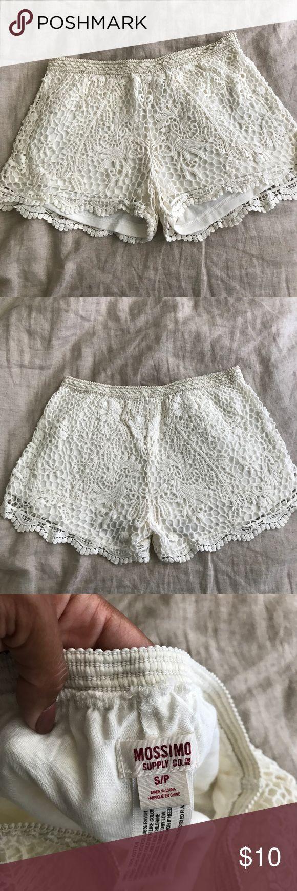Cream lace shorts Cream lace Mossimo Supply CO. Shorts Mossimo Supply Co Shorts