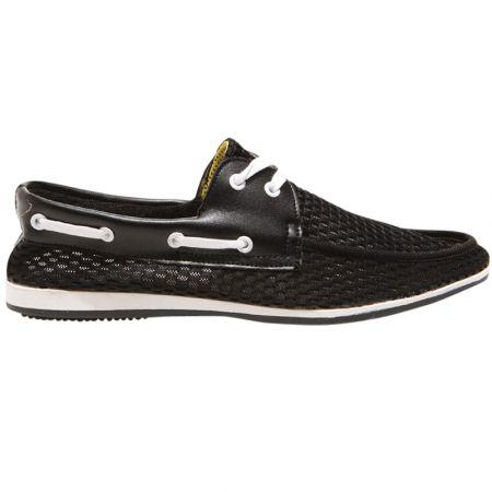 Boater black men's boat shoe. Shop here: www.hardtofind.com.au