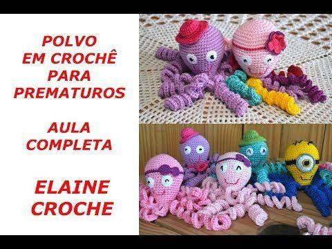 Nesta vídeo aula a Professora Elaine Tripiano ensina a confecção do Polvo em Crochê para Prematuros. Projeto Octo em parceria com a Maternidade Brasília.