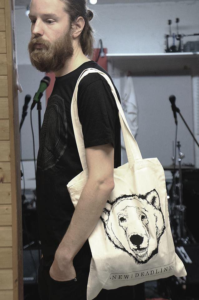 "White ""Polar bear"" canvas bag  Organic cotton, one size #MakersAndDoers #inspiration #fashion"