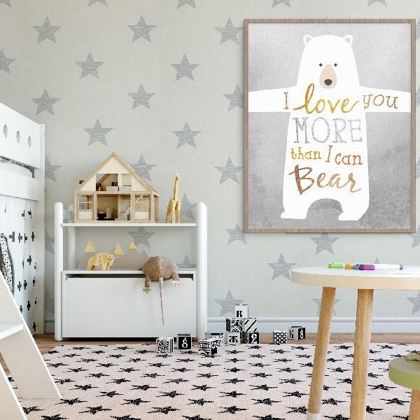 A super cute print for a nursery or toddlers room.