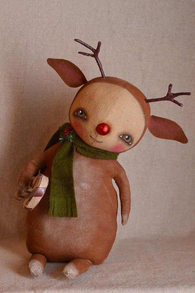 Outside the Box Primitives Ralphie Reindeer AVAILABLE THROUGH BETHANY LOWE DESIGNS INC.  WINTER 2016