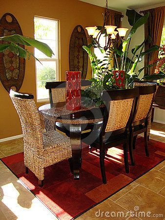 Perfect Dining Room With Tropical Interior Decoration Ideas: Simply Comfortable Dining  Room Simply Love This!