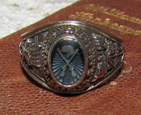 Vintage 10K Oak Ridge High School Class Ring by by PuppyLuckArt