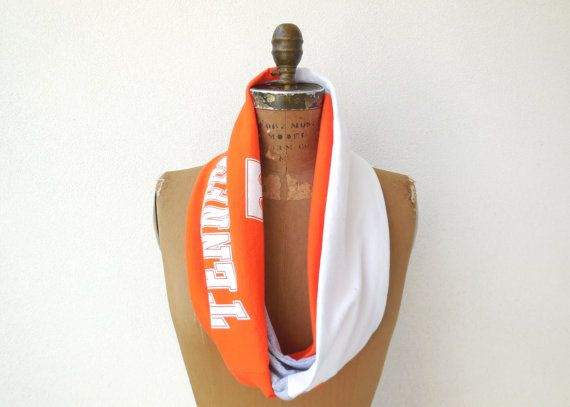 University of Tennessee T Shirt Scarf / Orange Gray White by ohzie