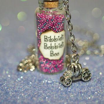 BibbidiBobbidiBoo Bottle of Magic Necklace and by LifeistheBubbles