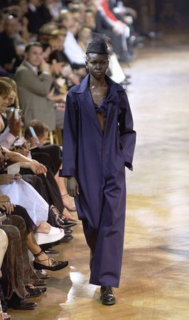 * Navy blue cotton overall, Yohji Yamamoto, Spring/Summer 2003 photo Monica Feudi
